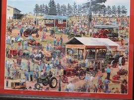 a signed print of a 1950's steam show