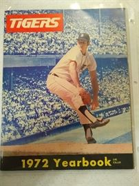 Vintage Detroit Tigers memorabilia 72' year book