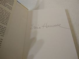 Autographed Ernie Harwell book