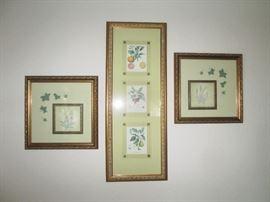3 Botanicals Gilded Frames