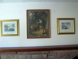 "Phillip Gray (Signed) ""A New Begining"" & ""Thinking of You"" (Middle) Alfred  Lucas ""The Pet"""