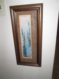 Watercolor? Forest w/Etched Glass