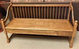 Oak Entry Way / Mud Room Storage Bench