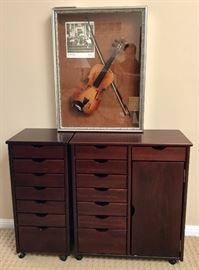 Encased Violin Signed by the Band Alabama
