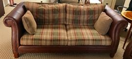 Handsome Leather & Tack Couch