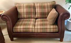 Matching Leather & Tack Loveseat