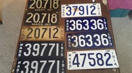 What a great find! MASS plates 1912-1918
