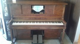 Amazing refurbished Player Piano-and 150 rolls!