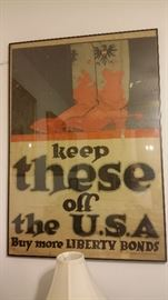ORIGINAL (NOT REPRODUCTION) WORLD WAR I POSTER