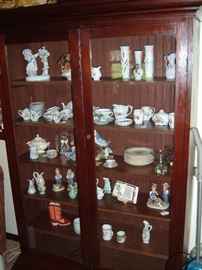 Nice curio cabinet ..texas pine