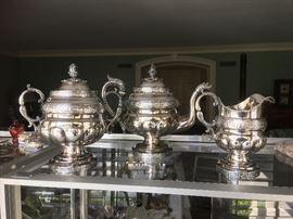 three piece silver tea set by Colin Van Gelder Forbes (1776-1858)