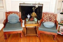 Oriental Club Chairs