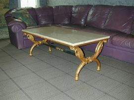 Heavy Marble Top Coffee Table