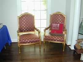 Gold Guilt Estate Chairs
