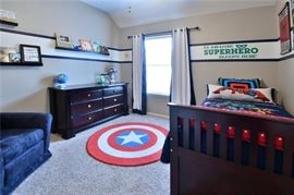 Captain America Rug  holds center court with this super hero boy's room furniture and decor