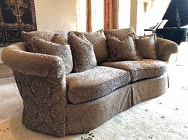 Haverty's Chenille Jacquard Sofa.