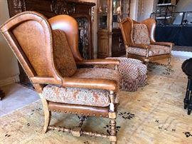 Designer Arm Chairs by CENTURY FURNITURE.