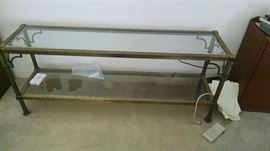 Brass sofa table