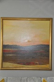 "Beautiful signed and framed oil on canvas by Michigan artist David Grath.  43""w  x 44""h."