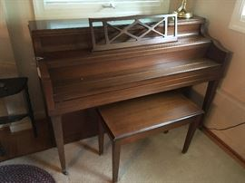 Cable Spinet Piano (needs tuning)