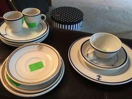 Vintage Ceramic Navy Dinner Ware