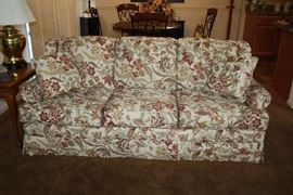 Floral Sofa - has matching ottoman