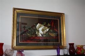 Framed Magnolia Picture