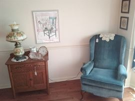commode, arm chair