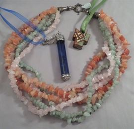 Semi-precious stone and other unique necklaces