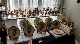 Vintage Goebel Hummel figurines & plates.