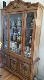 China cabinet.  German steins.