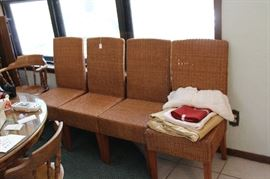 6 wicker cane chairs