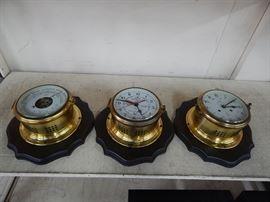 Schatz Mariner Clock,Tide Clock,Baromete