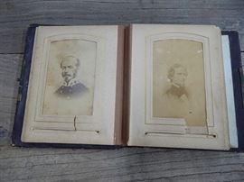 19th C.Photo Album,Civil War Gen,Stud.card