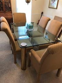 Modern Glass Dining room set