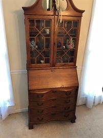 Antique chippendale secretary