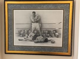 "Mohamed Ali ""The Greatest"" boxing print"
