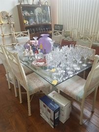 GLASSTOP DINING SET