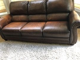 Italia USA Leather Couch