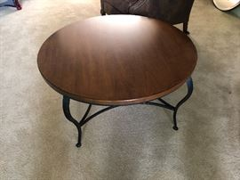 Pennsylvania House Wood & Iron Round Coffee Table