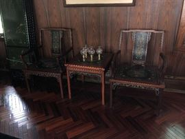 Oriental Table and Chairs. Family Heritage Estate Sales, LLC. New Jersey Estate Sales/ Pennsylvania Estate Sales.