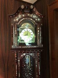 Oriental Grandfather Clock. Family Heritage Estate Sales, LLC. New Jersey Estate Sales/ Pennsylvania Estate Sales.