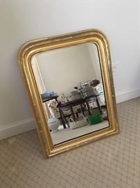 Gold Rimmed Mirror