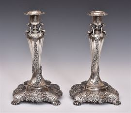 Pair of Tiffany & Co. Sterling Candlesticks