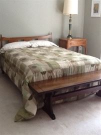 bedframe and accent furniture