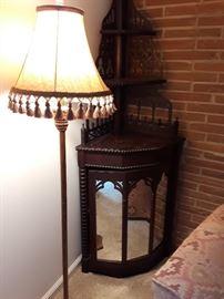 tall antique corner unit