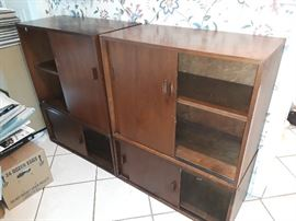 mid century cabinets with sliding doors (4 units)