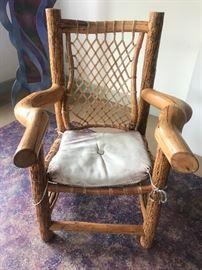 from Idaho...custom pine/elk hide chair heavy