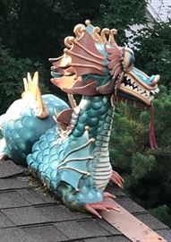 Fabulous for a Chinese Restaurant !....graced the roof line as a point of interest in J'Ville....Custom made & first time available...6' & Awesome !