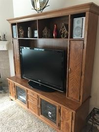 Nice Entertainment Unit- Will accept Flatscreen TV's